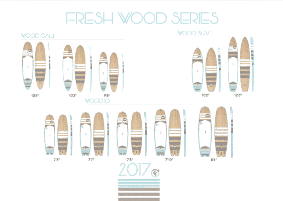 Planches de SUP rigide Wood Fresh 2017